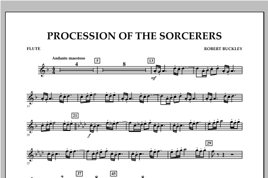 Procession Of The Sorcerers - Flute Sheet Music