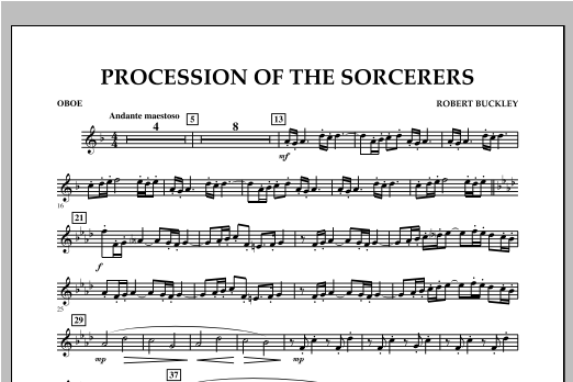 Procession Of The Sorcerers - Oboe Sheet Music