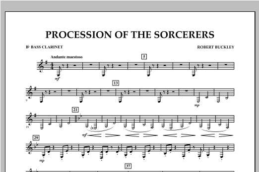 Procession Of The Sorcerers - Bb Bass Clarinet Sheet Music