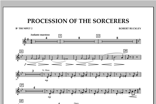 Procession Of The Sorcerers - Bb Trumpet 2 Sheet Music