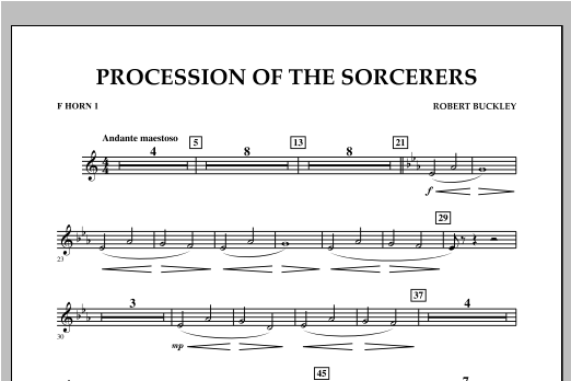 Procession Of The Sorcerers - F Horn 1 Sheet Music