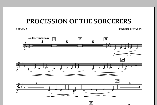 Procession Of The Sorcerers - F Horn 2 Sheet Music