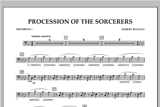 Procession Of The Sorcerers - Trombone 1 Sheet Music