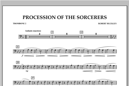 Procession Of The Sorcerers - Trombone 2 Sheet Music