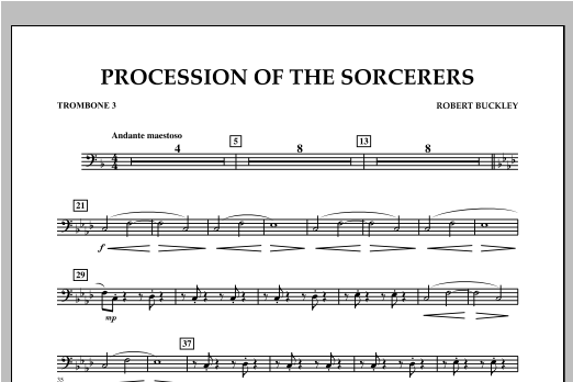 Procession Of The Sorcerers - Trombone 3 Sheet Music