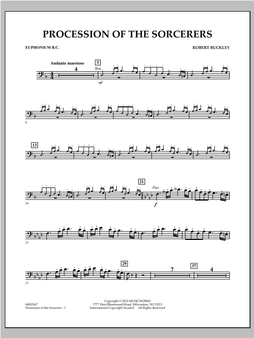 Procession Of The Sorcerers - Euphonium BC Sheet Music