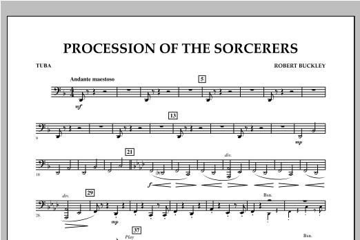 Procession Of The Sorcerers - Tuba Sheet Music
