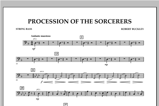 Procession Of The Sorcerers - String Bass Sheet Music