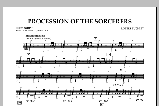 Procession Of The Sorcerers - Percussion 1 Sheet Music