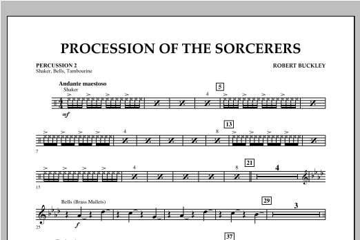 Procession Of The Sorcerers - Percussion 2 Sheet Music