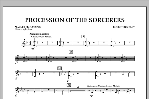 Procession Of The Sorcerers - Mallet Percussion Sheet Music