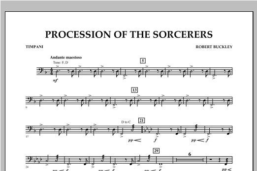 Procession Of The Sorcerers - Timpani Sheet Music