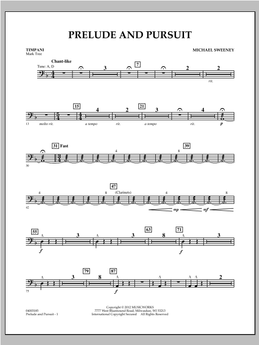 Prelude And Pursuit - Timpani Sheet Music