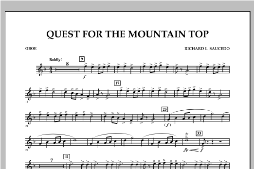 Quest For The Mountain Top - Oboe Sheet Music