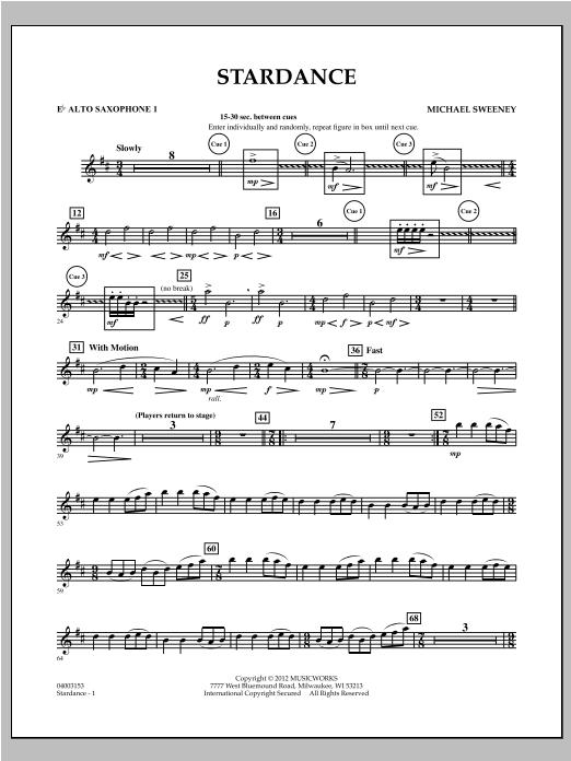 Stardance - Eb Alto Saxophone 1 Sheet Music