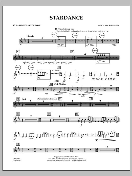 Stardance - Eb Baritone Saxophone Sheet Music