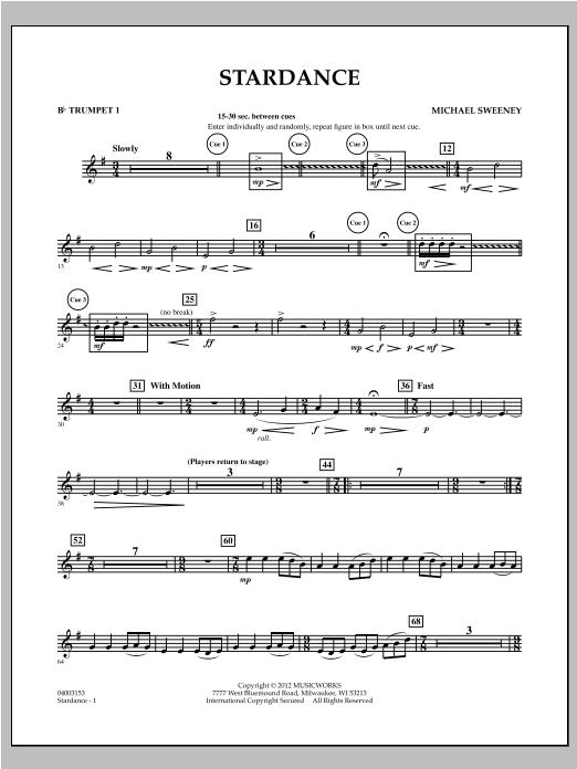 Stardance - Bb Trumpet 1 Sheet Music