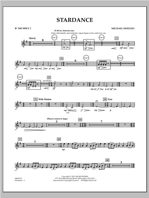 Stardance - Bb Trumpet 2 Sheet Music