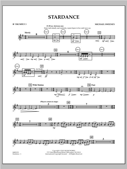 Stardance - Bb Trumpet 3 Sheet Music
