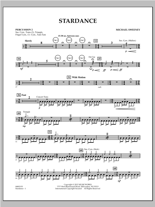 Stardance - Percussion 2 Sheet Music