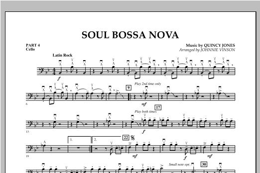 Soul Bossa Nova (arr. Johnnie Vinson) - Pt.4 - Cello (Concert Band: Flex-Band)