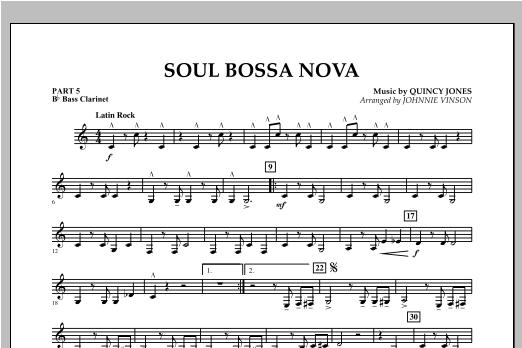 Soul Bossa Nova - Pt.5 - Bb Bass Clarinet Sheet Music