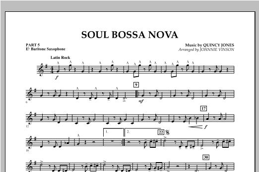 Soul Bossa Nova - Pt.5 - Eb Baritone Saxophone Sheet Music