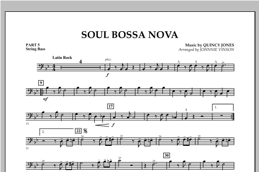 Soul Bossa Nova - Pt.5 - String/Electric Bass Sheet Music