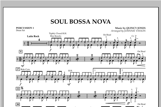 Soul Bossa Nova - Percussion 1 Sheet Music