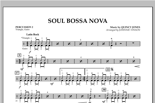 Soul Bossa Nova (arr. Johnnie Vinson) - Percussion 2 (Concert Band: Flex-Band)