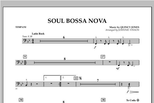 Soul Bossa Nova - Timpani Sheet Music