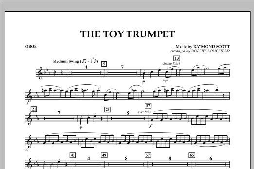 Toy Trumpet (Trumpet Solo & Section Feature) - Oboe Sheet Music