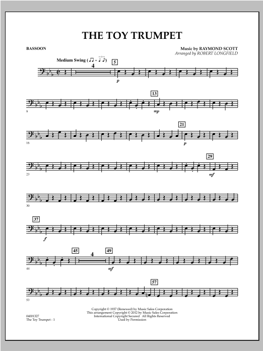 Toy Trumpet (Trumpet Solo & Section Feature) - Bassoon Sheet Music