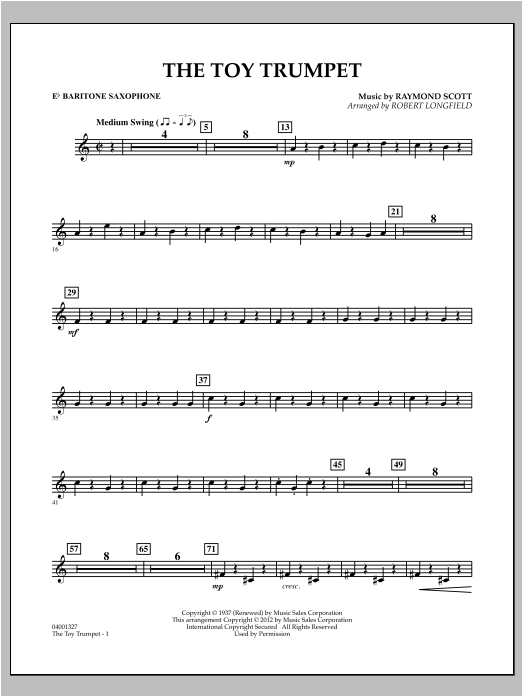 Toy Trumpet (Trumpet Solo & Section Feature) - Eb Baritone Saxophone Sheet Music