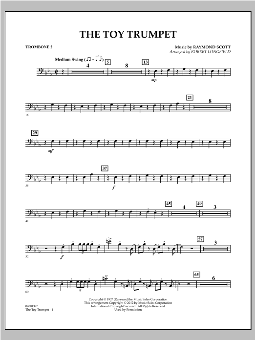 Toy Trumpet (Trumpet Solo & Section Feature) - Trombone 2 Sheet Music