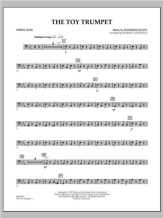 Toy Trumpet (Trumpet Solo & Section Feature) - String Bass Sheet Music