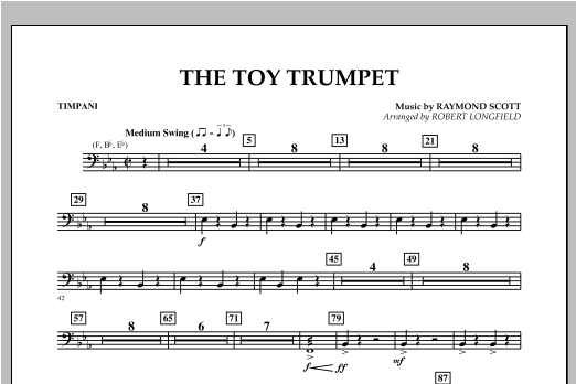 Toy Trumpet (Trumpet Solo & Section Feature) - Timpani Sheet Music
