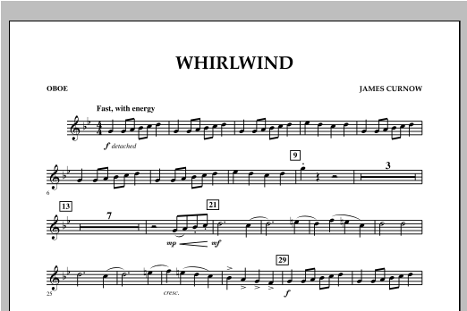 Whirlwind - Oboe Sheet Music
