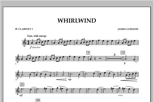 Whirlwind - Bb Clarinet 1 Sheet Music