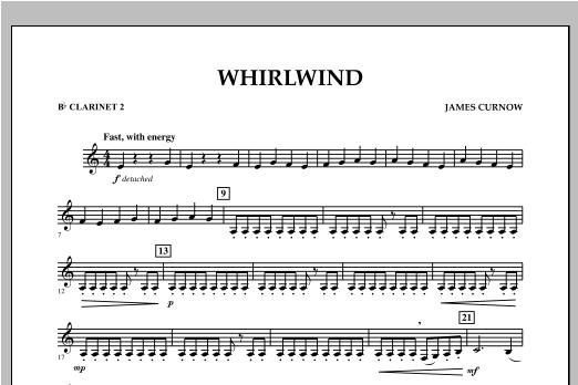 Whirlwind - Bb Clarinet 2 Sheet Music