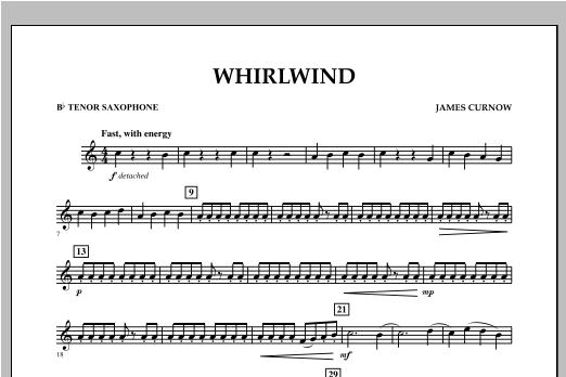 Whirlwind - Bb Tenor Saxophone Sheet Music