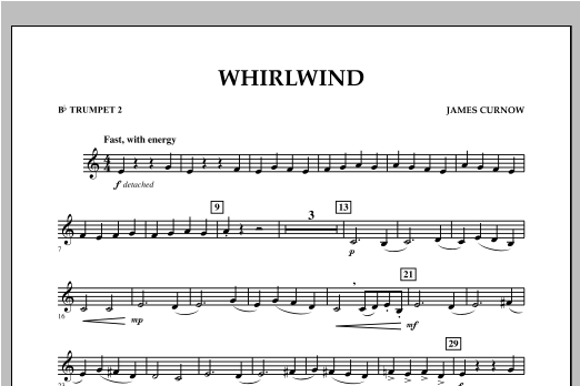 Whirlwind - Bb Trumpet 2 Sheet Music