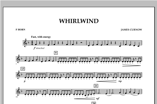 Whirlwind - F Horn Sheet Music
