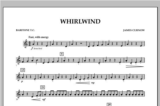 Whirlwind - Baritone T.C. Sheet Music
