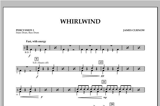 Whirlwind - Percussion 1 Sheet Music
