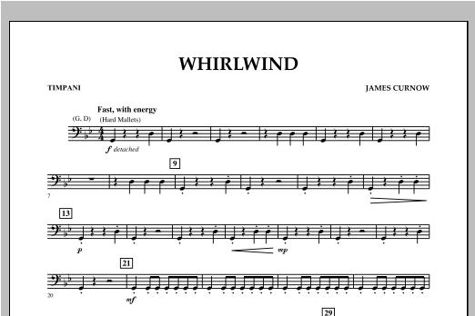 Whirlwind - Timpani Sheet Music