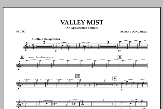 Valley Mist (An Appalachian Portrait) - Flute Sheet Music