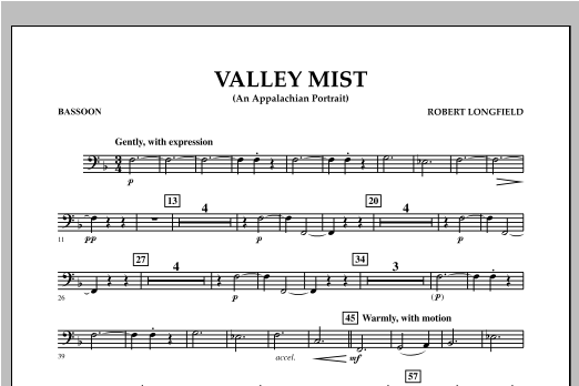 Valley Mist (An Appalachian Portrait) - Bassoon Sheet Music