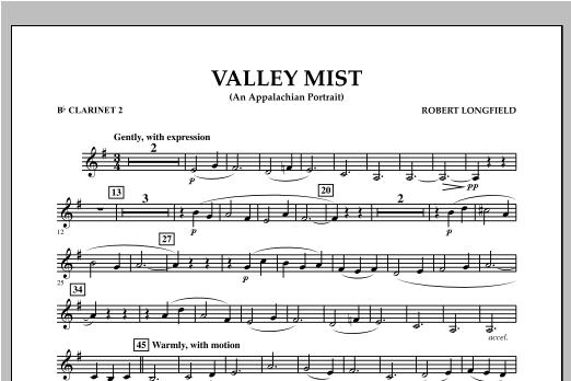 Valley Mist (An Appalachian Portrait) - Bb Clarinet 2 Sheet Music