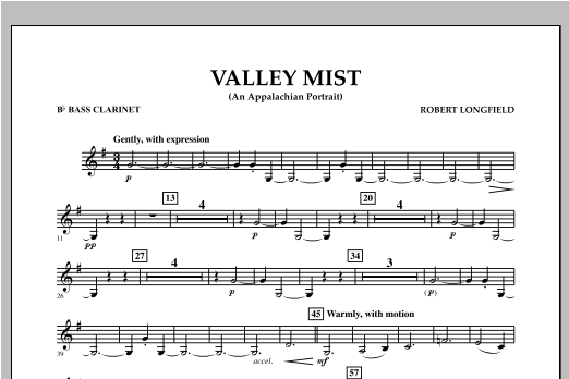 Valley Mist (An Appalachian Portrait) - Bb Bass Clarinet Sheet Music